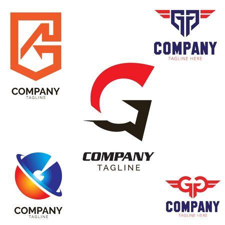 G letter based logo set vector