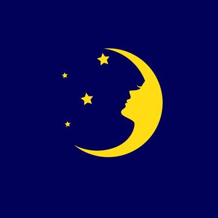 Luna Dreams logo. a crescent moon shape logo design Logó