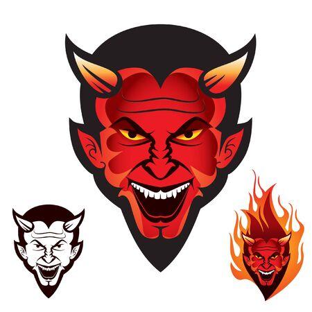 Diablo- oder Teufelskopf-Logo, kann für T-Shirts, Fahrradclubs oder andere Zwecke verwendet werden.