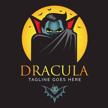 Dracula- oder Vampir-Logo. Vektorgrafiken Logo