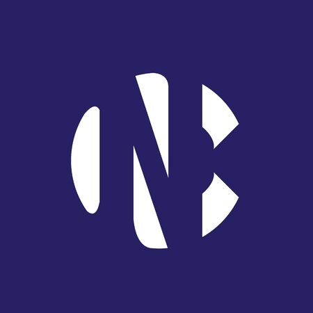 NC or CN mnogram logo. vector