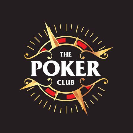 Poker Club logo. clip art Illusztráció