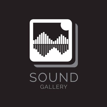Sound Gallery logo icon, vector in the shape of music equalizer concept 向量圖像