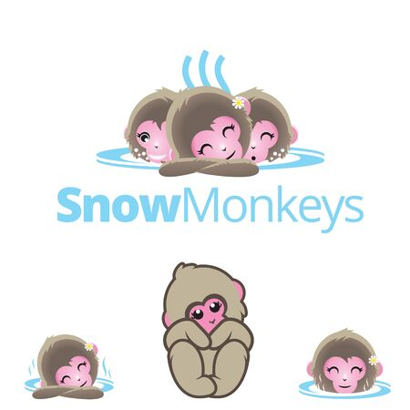 Snow Monkeys or Japanese Macaque