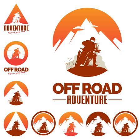 Off Road Adbenture logo, rally sport theme.vector. letter O as the world or the badge/ circle.letter A as mountain