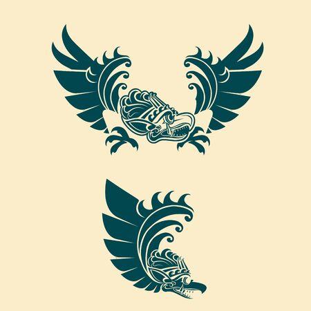 Garuda vector illustrationBalinese style  イラスト・ベクター素材