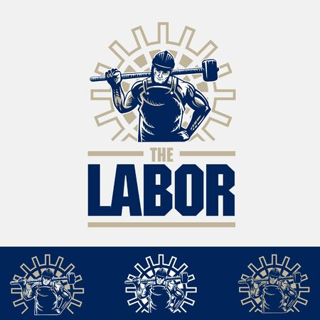 Labor logo vector illustration can be used as t-shirt graphic or any other purpose.