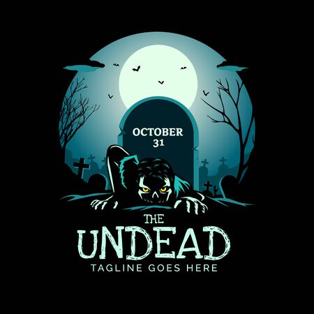 the Undead zombie theme vector illustration can be used as logo, tshirt graphic, or any other purpose