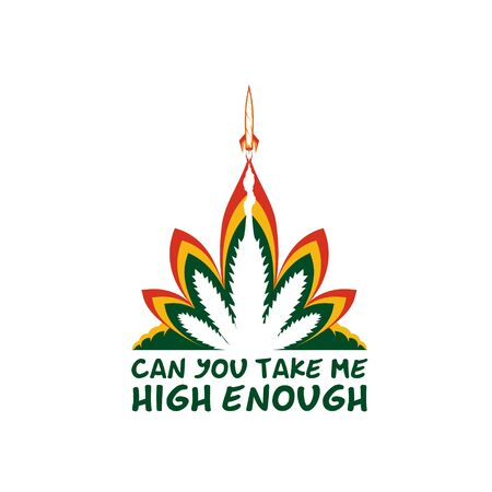 Can You Take me High Enough alternate version  vector in rocket combined with smoking weed