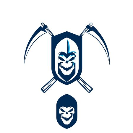 Death Scythe vector illustration simple graphic for logo design element or any other purpose