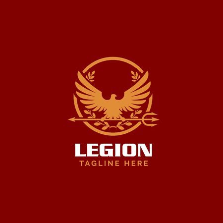 Roman Legionnaire Eagle symbol vectorsimple modern eagle and trident concept