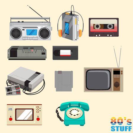 80 cosas versión 1 ilustración vectorial