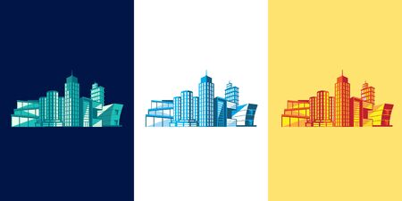 Buildings vector graphic assets illustration for graphic elements