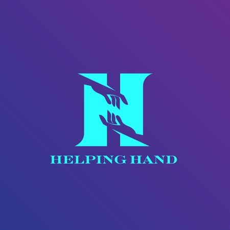 Helping Hand logo concept vector for commercial use