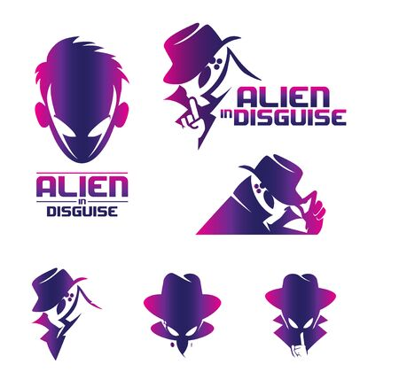 Alien in Disguise concept volume 2 set vector for commercial use. available in various versions