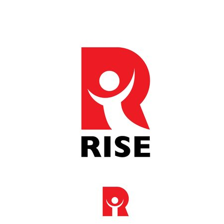R letter RISE letter based symbol vector