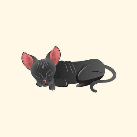 Sphynx Cat vector illustration for  design element, etc Stock Illustratie