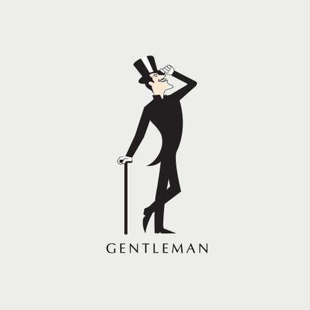 Gentleman cartoon vector illustration