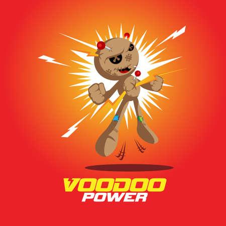 Voodoo Power Doll vector illustration