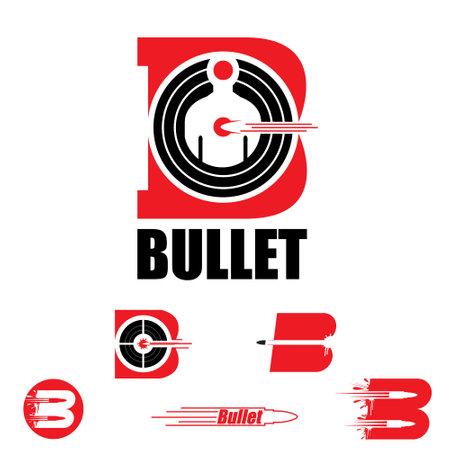 B letter based symbol Bullet and target concept vector