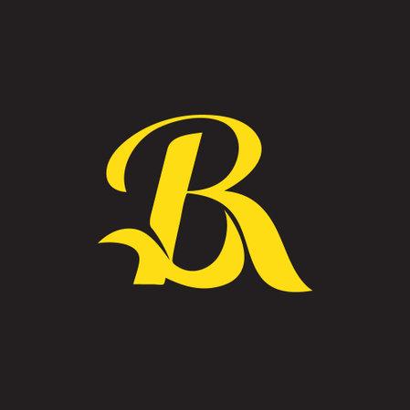 BR monogram symbol vector script style Vettoriali