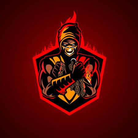 Fire Ninja vector illustration symbol insignia