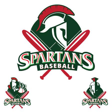 Spartans Baseball insignia vector illustration