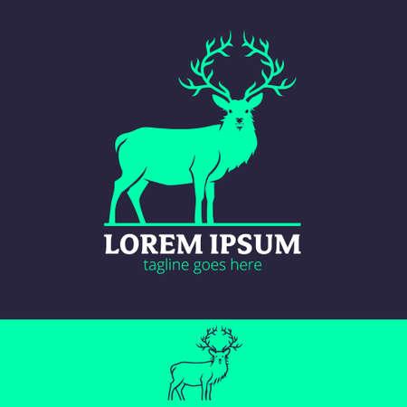 King Stag majestic animal symbol vector illustration Vettoriali