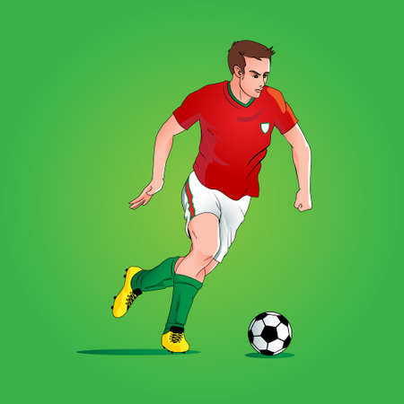 footballer  vector illustration for poster, banner, design element or any other purpose.