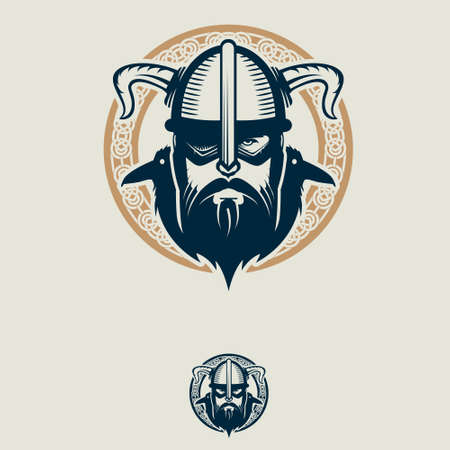 Odin and his ravens insignia vector symbol for brand,  , t-shirt print, design element or any other purpose.