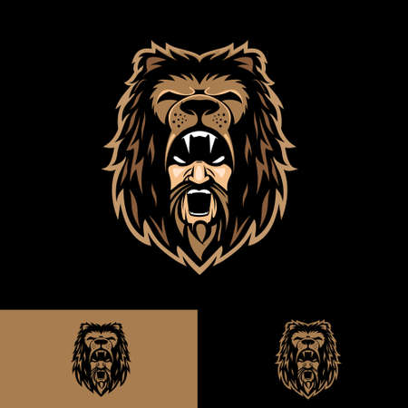 Hercules head symbol vector illustration insignia style for e-sport or sport logo, design element, t-shirt print, or any other purpose.