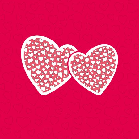 optimized: Hearts seamless pattern for Valentines Day or wedding designs. Optimized for one click color changes. Illustration