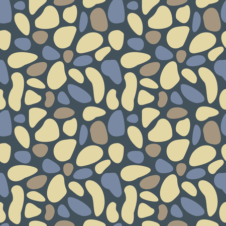 swatch: Abstract pebble seamless pattern. Colorful stylized sea stones texture. EPS8 vector illustration includes Pattern Swatch.