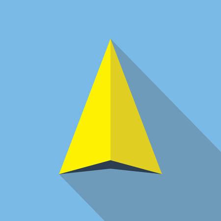 navigation pictogram: Navigation pointer flat icon sign. Navigator arrow symbol. Navigational pictogram. Vector icon of a navigation arrow in flat style with long shadow. EPS10 vector illustration.