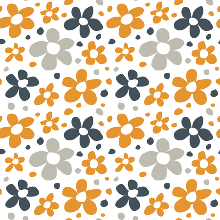 abstract flowers: Abstract flowers seamless pattern.