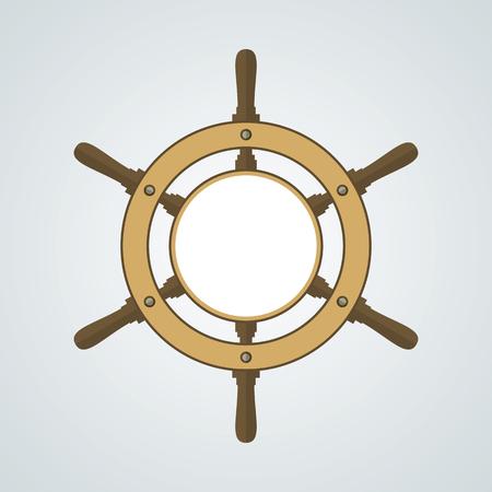 timon barco: Timón de la nave de vectores de fondo. Timón, volante con espacio en blanco para el texto. Símbolo de la rueda de dirección fondo. timón de barco y Vector de la muestra con el área en blanco. ilustración vectorial EPS8.