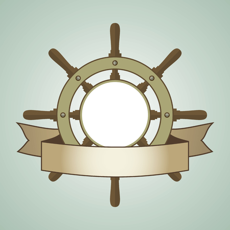 helm: Ship helm vector background.