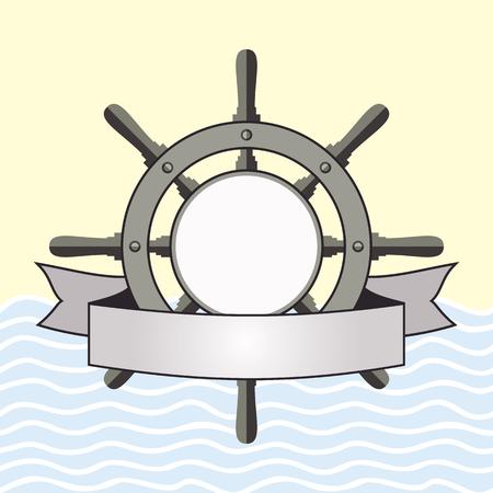 helm: Ship helm vector background.