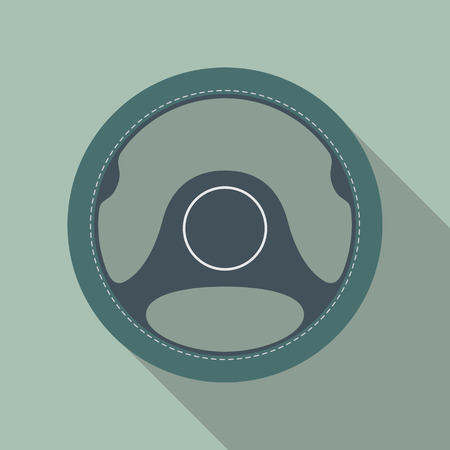 internet school: Car steering wheel vector icon flat symbol. Automobile steering wheel icon in flat style with long shadow. Auto steering wheel flat icon. Car steering wheel icon flat design element. EPS10 vector.