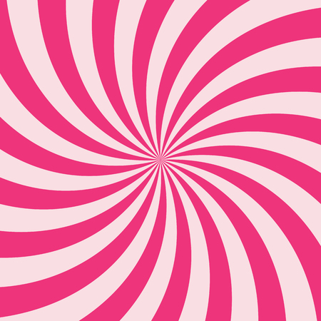 pink stripes: Swirling radial vortex background. Pink stripes swirling around the center of the square. Vector illustration in EPS8 format. Illustration