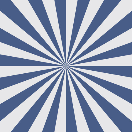 radiate: Sun burst background in blue color. Blue rays radiate from the center to the edges of the square. Vector illustration