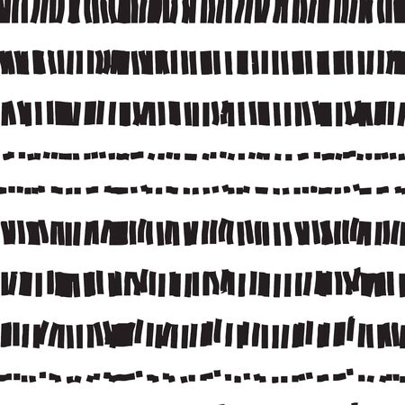 fine detail: Dotted and dashed seamless pattern. Abstract seamless texture in black and white colors. Vector illustration  pattern swatch include.