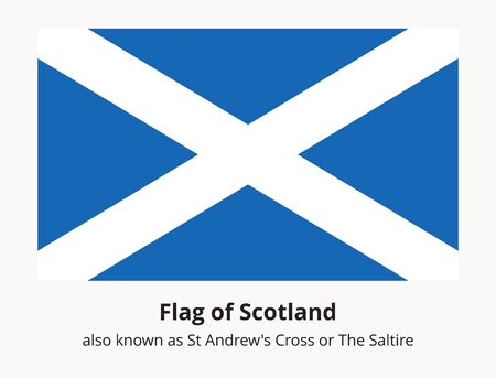 Scotland flag also known as St Andrews Cross or the Saltire. Scottish national flag.
