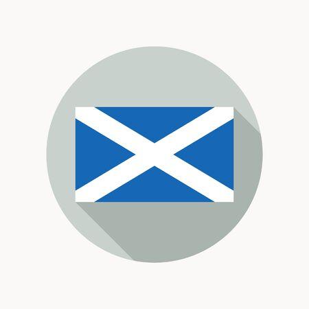 scots: Scotland national flag. Scottish flag icon.