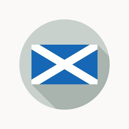 scottish flag: Scozia bandiera nazionale. flag icon scozzese. Vettoriali