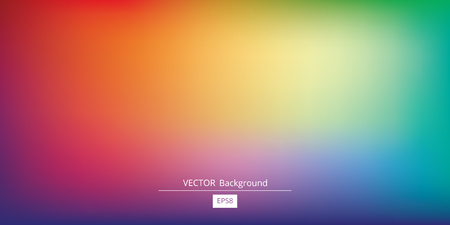 Abstract blurred gradient mesh background in bright rainbow colors. Colorful smooth banner template. Ilustrace