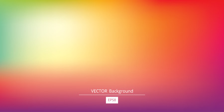 Abstract blurred gradient mesh background in bright rainbow colors. Colorful smooth banner template. Vettoriali