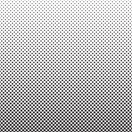 horizontally: Halftone dots pattern. Dotted gradient background with fade effect. Black circles on white. Horizontally seamless.