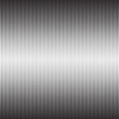 fade: Halftone dots pattern. Dotted gradient background with fade effect. Black circles on white. Horizontally seamless.