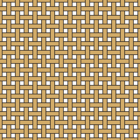 hedge: Wicker seamless pattern. Basket weave repeating texture. Braiding continuous background of vertical and horizontal intersecting perpendicular stripes. Geometric vector illustration in brown tones.